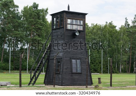 concentration camp in Stutthof- Poland - stock photo