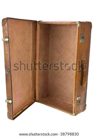 Concentration camp open luggage standing - stock photo
