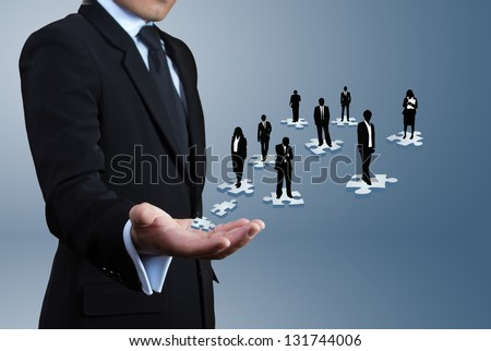 Concept about business leaders. teamwork. - stock photo