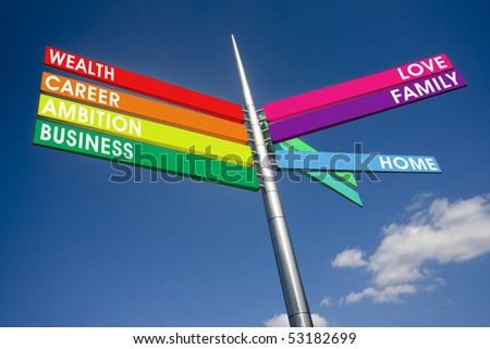 Concept around family and life choices - stock photo