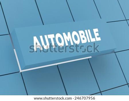 Concept AUTOMOBILE - stock photo