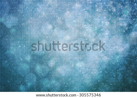 Concept binary numbers travel information on abstract bokeh nature blurred illustration background. Background with binary data and motion blurred blue colored background. - stock photo