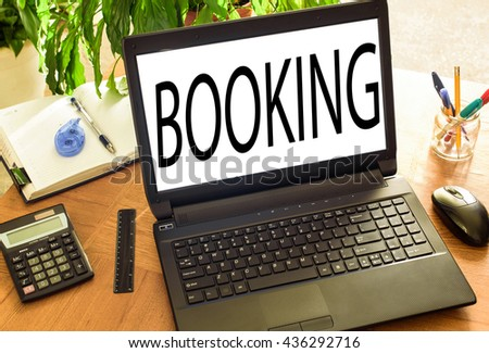 Concept Booking - stock photo