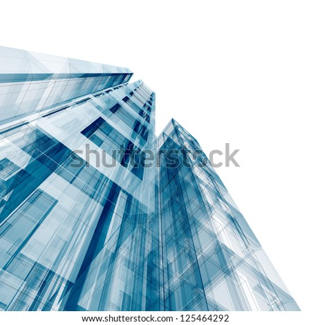 Concept building. Design and 3d model my own - stock photo