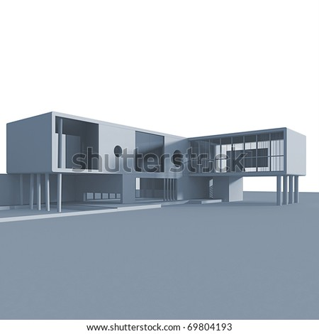 Concept building. Isolated high quality 3d render - stock photo