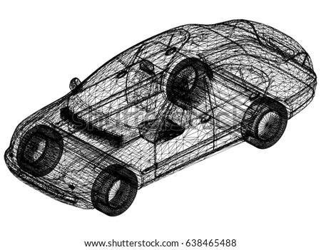 Concept car blueprint 3 d perspective stock illustration 638465488 concept car blueprint 3d perspective malvernweather Images