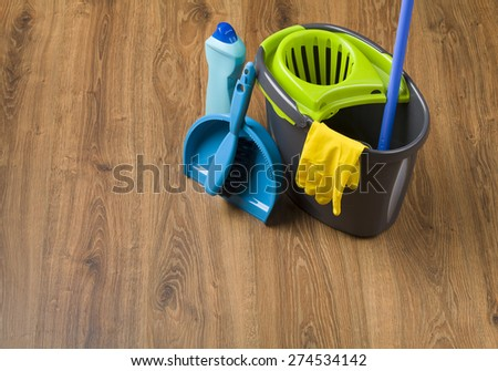 Concept cleaning - equipment - stock photo