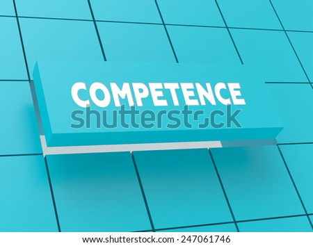 Concept COMPETENCE - stock photo
