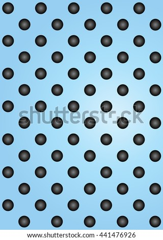 Concept conceptual blue abstract metal stainless steel aluminum perforated pattern texture mesh background as metaphor to industrial, abstract, technology, grid, silver, grate, spot, grille surface - stock photo