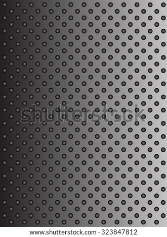 Concept conceptual gray metal stainless steel aluminum perforated pattern texture mesh background metaphor to industrial, abstract, technology, grid, silver, grate, spot, grille surface