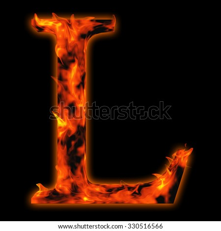Concept conceptual red hot burning fire font  in red and orange flames isolated on black background metaphor to holiday, vintage, industrial, grunge, glow, flammable, romantic, fear,  nightmare design - stock photo
