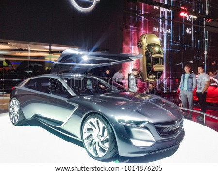Concept Coupe From Opel. Moscow, Russia   30 August, 2014. New Ideas