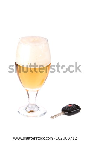 Concept, Don't Drink and Drive - stock photo
