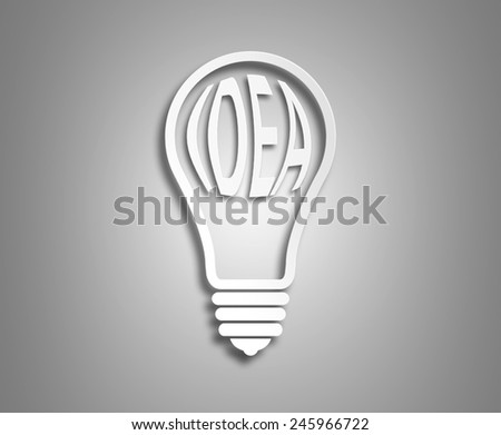 concept ecology. the image of the light bulb on a light background. Word of the idea inside light bulb - stock photo