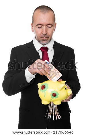 Concept Euro loses value or was poorly created isolated - stock photo