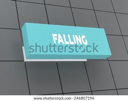 Concept FALLING - stock photo