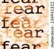 Concept fear background, texture - stock photo