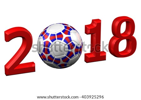Concept: Fifa World Cup 2018, isolated on white background. 3D rendering. - stock photo