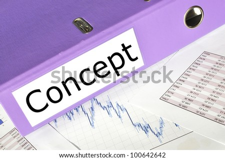 Concept  folder on a market report