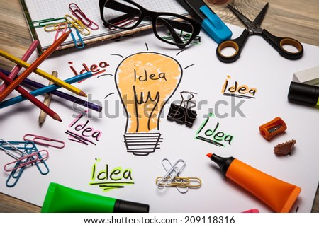 Concept for brainstorming and inspiration - stock photo