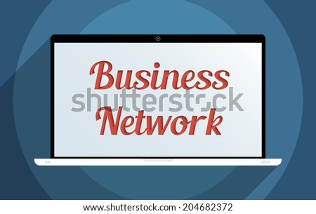 Concept for business network, e-commerce and globalization. Flat design illustration. - stock photo