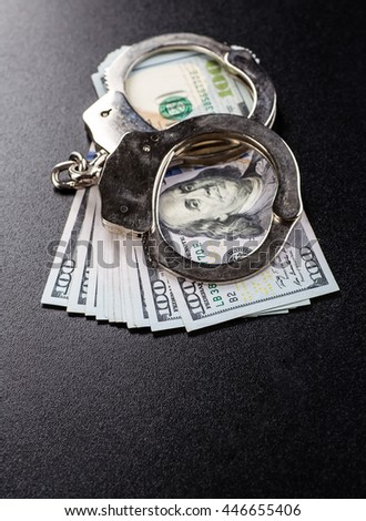 Concept For Corruption, Crime, Bribing, Fraud - stock photo