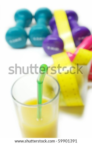 concept for healthy life and body weight control - stock photo