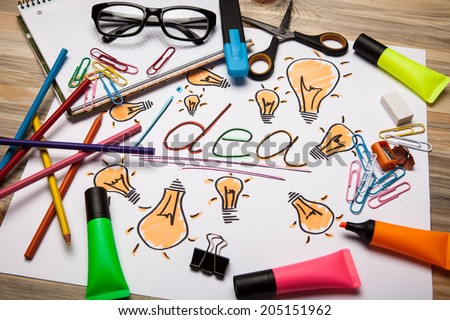 Concept for inspiration - stock photo