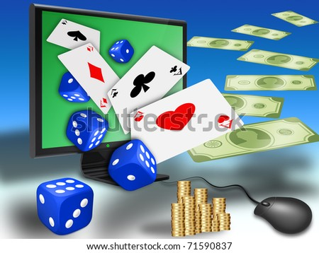 concept for online gambling, virtual casino