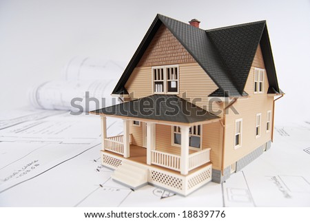Concept for planned home building - stock photo
