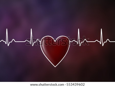 Concept illustration of heart beat.