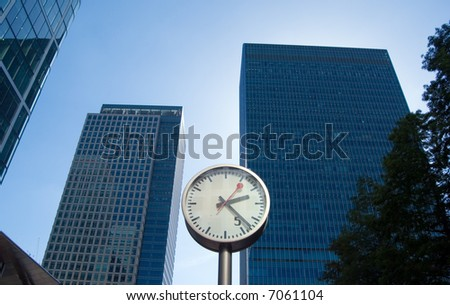 concept image of business versus time