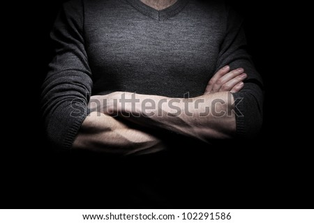 Concept image of confident man - stock photo