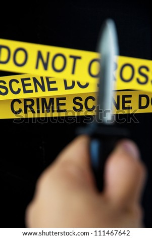 concept image of crime scene