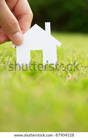 concept image of make your house - stock photo