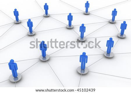 Concept image representing network, networking, connection, social networks, www,... - stock photo