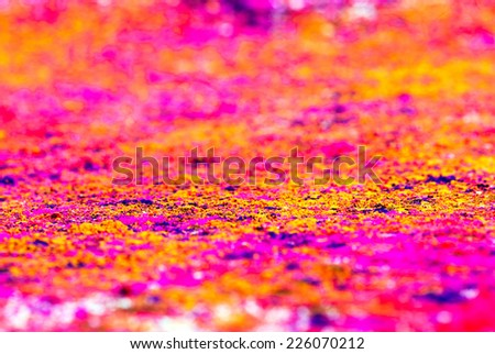 Concept �¢??Indian color festival called Holi - stock photo