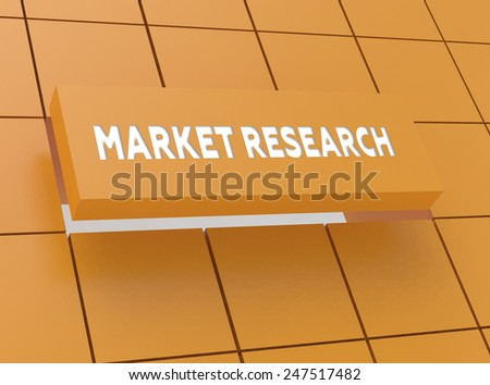 Concept MARKET RESEARCH - stock photo