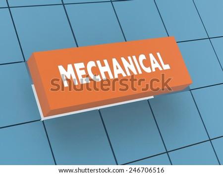 Concept MECHANICAL - stock photo