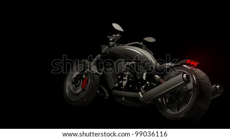 concept motorcycle (No trademark issues is my own design) High resolution 3D - stock photo