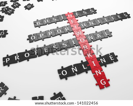 concept networking - stock photo