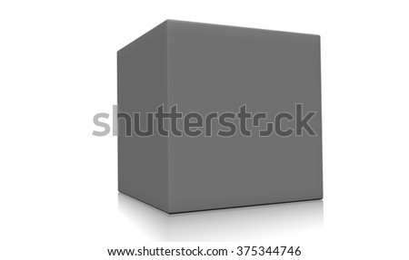 Concept of a gray box isolated on a white background.