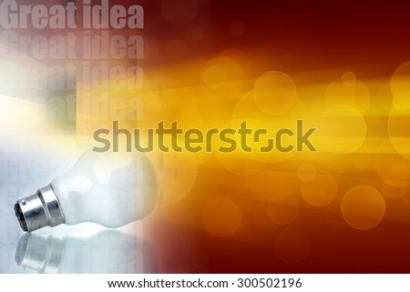 Concept of a great idea. Image according to financial planning, management, family management literature and education - stock photo