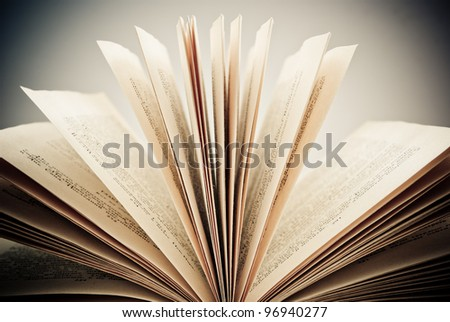 concept of an open book - stock photo