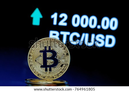 Concept Bitcoin Stock Market Price Going Stock Photo Royalty Free