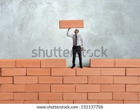 Concept of building a new business - stock photo