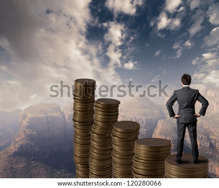 Concept of business and money growth - stock photo