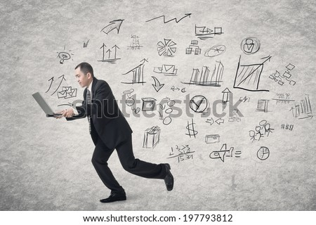 Concept of business plan with Asian businessman work by laptop. - stock photo