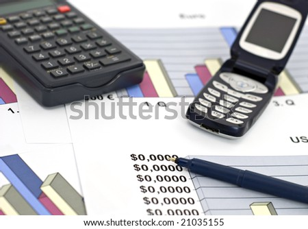 Concept of business-shallow d.o.f. - stock photo