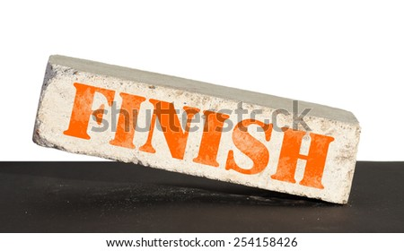 Concept of bussiness. Finish brick - stock photo